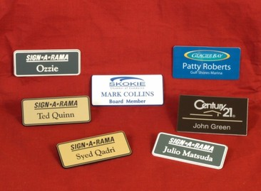 customizable name tags
